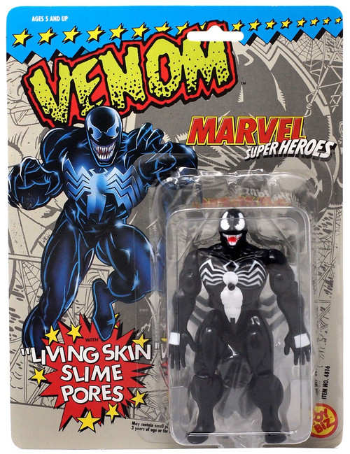 "Marvel Super Heroes Venom Action Figure [""Living Skin"" Slime Pores] [Shows Wear From Storage]"