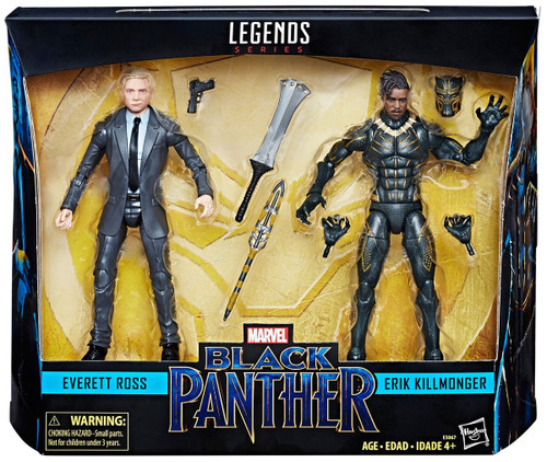 Black Panther Marvel Legends Everett Ross & Erik Killmonger Exclusive Action Figure 2-Pack