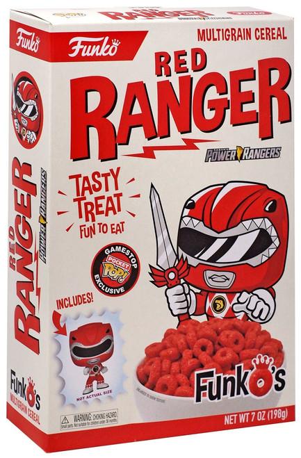 FunkO's Mighty Morphin Power Rangers Red Ranger Exclusive Breakfast Cereal