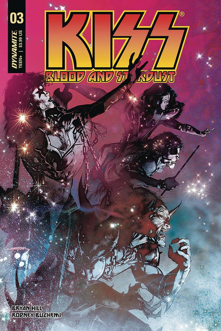 Dynamite Entertainment Kiss Blood Stardust #3 Comic Book