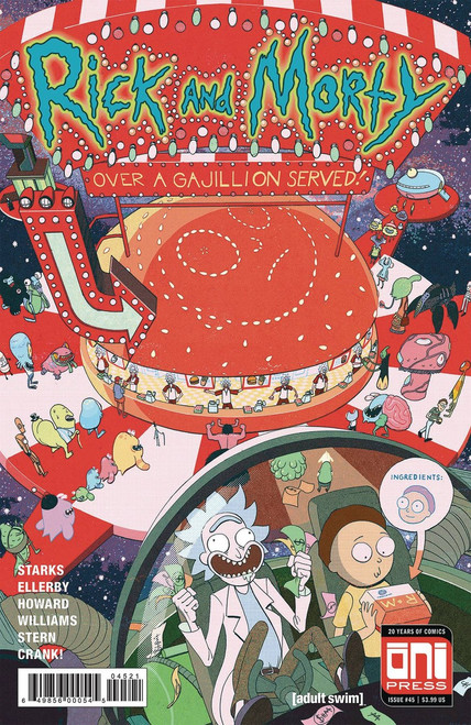 Oni Press Rick & Morty #45 Comic Book [Harvey Cover B]