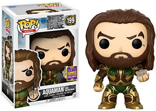 Funko DC Justice League Movie POP! Movies Aquaman & Mother Box Exclusive Vinyl Figure #199 [Justice League, Damaged Package]