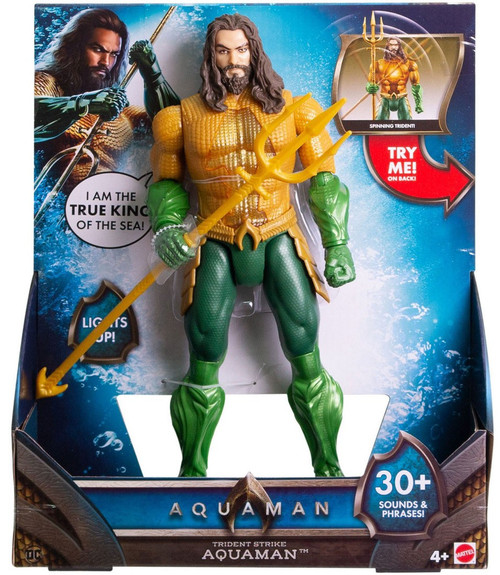 DC Aquaman Movie Trident Strike Aquaman Action Figure [Lights & Sounds]