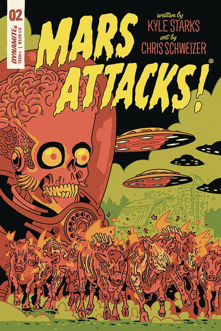 Dynamite Entertainment Mars Attacks #2 Comic Book [Schweizer Variant Cover]