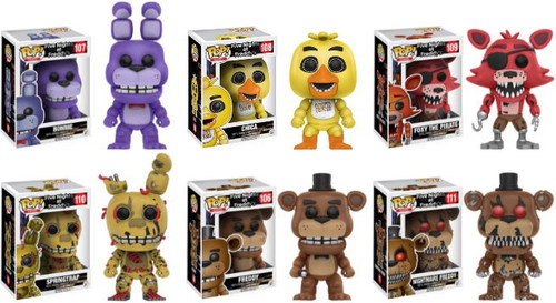 Funko Five Nights at Freddy's POP! Games Series 2 Set of 6 Vinyl Figures