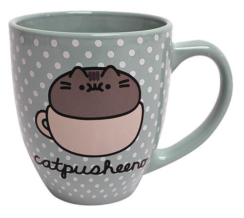 Catpusheeno Polka Dot 18 Ounce Ceramic Mug