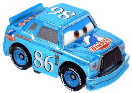 Disney Cars Die Cast Mini Racers Dinoco Chick Hicks Car [Metallic Version Loose]
