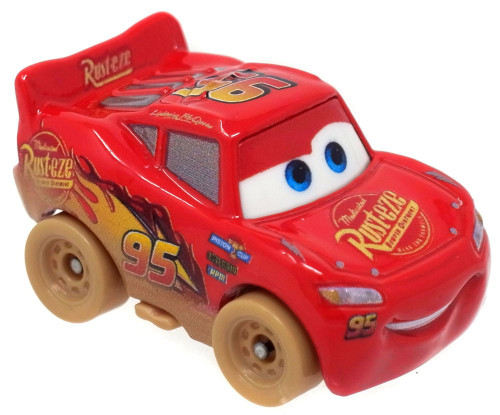 Disney Cars Die Cast Mini Racers Lightning McQueen Car [Muddy Version Loose]