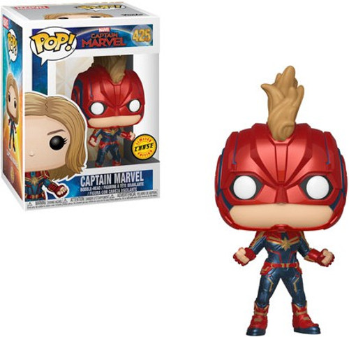Funko POP! Marvel Captain Marvel Vinyl Figure #425 [With Helmet, Chase Version]