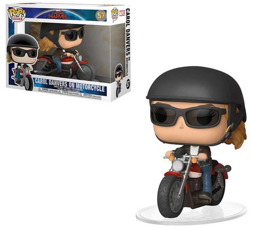 Funko Captain Marvel POP! Rides Carol Danvers On Motorcycle Vinyl Figure #57