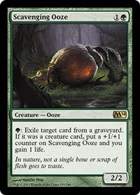 MtG 2014 Core Set Rare Scavenging Ooze #195 [Foil Played] [Played]
