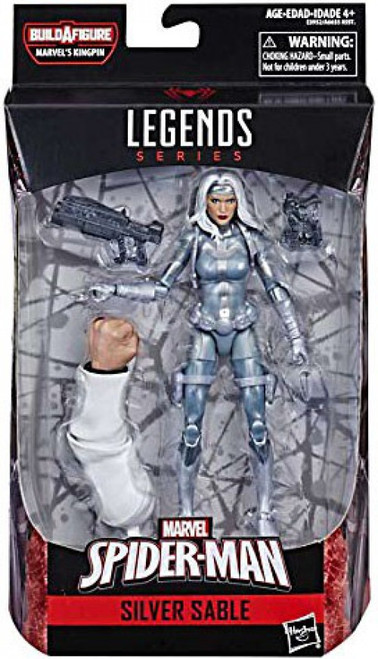 Spider-Man Marvel Legends Infinite Kingpin Series Silver Sable Action Figure