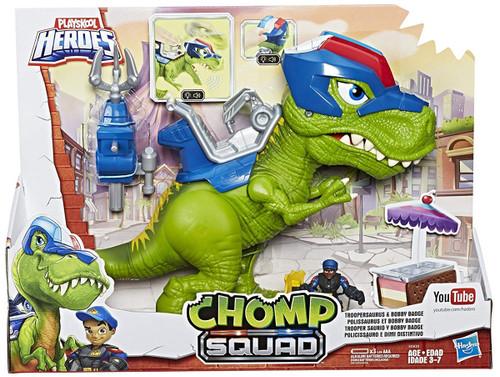 Playskool Heroes Chomp Squad Troopersaurus & Bobby Badge Action Figure