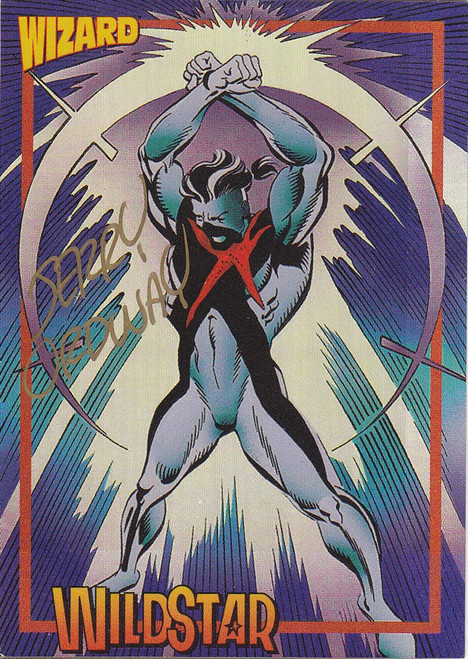 DC Wizard Magazine Wildstar Single Trading Card #10 [Autographed by Jerry Ordway]