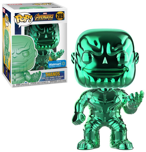 Funko Marvel Universe Avengers Infinity War POP! Marvel Thanos Exclusive Vinyl Figure #289 [Green Chrome]