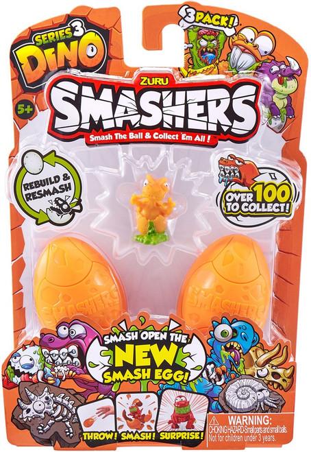 Smashers Series 3 Dino Mini Figure 3-Pack