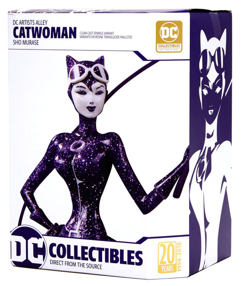 DC Artist Alley Catwoman Exclusive 7-Inch PVC Collector Statue [Sho Murase, Clear Cast Sparkle Variant]