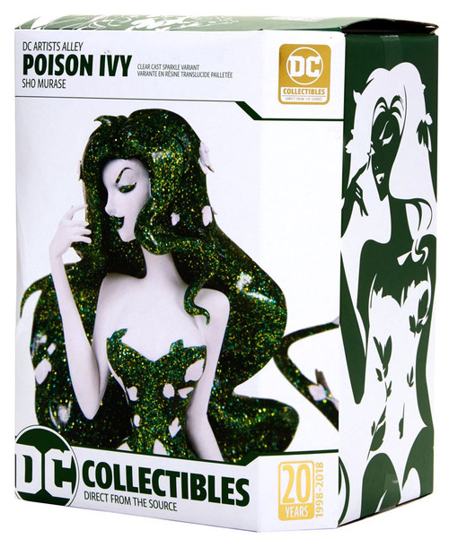 DC Artist Alley Poison Ivy Exclusive 7-Inch PVC Collector Statue [Sho Murase, Clear Cast Sparkle Variant]