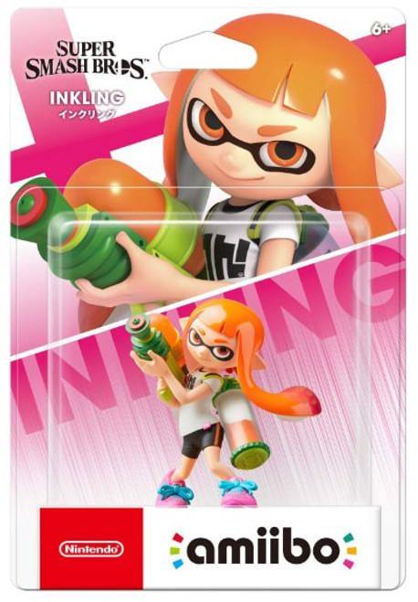 Nintendo Super Smash Bros Amiibo Inkling Girl Mini Figure [Orange]