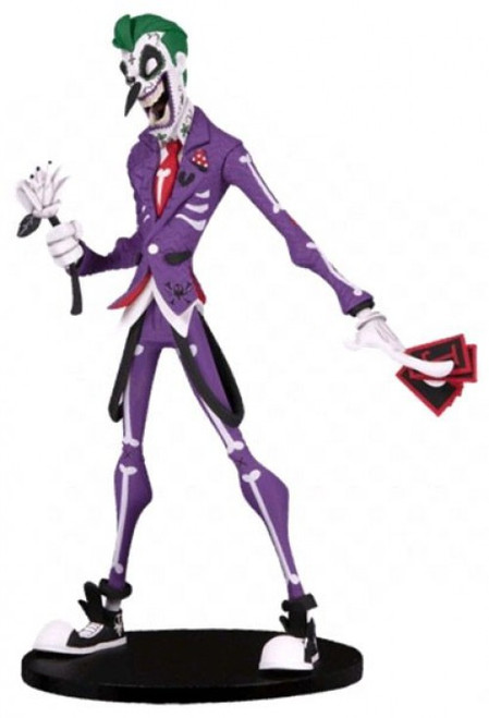 """DC Artist Alley The Joker Exclusive 6.5-Inch PVC Collector Statue [Hainau """"Nooligan"""" Saulque, Day of the Dead Variant]"""