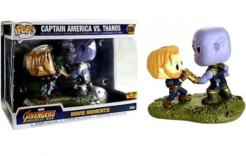 Funko Avengers Infinity War POP! Marvel Captain America & Thanos Exclusive Vinyl Bobble Head 2-Pack [Movie Moments]