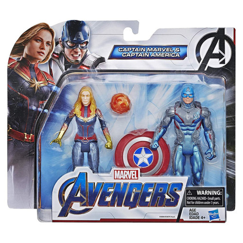 Avengers Endgame Team Pack Captain America & Captain Marvel Action Figure 2-Pack