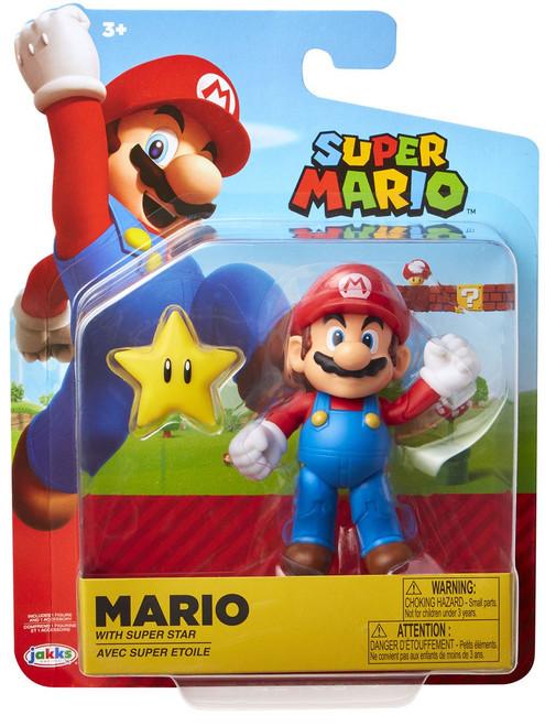 World of Nintendo Super Mario Wave 14 Mario Action Figure [with Super Star]