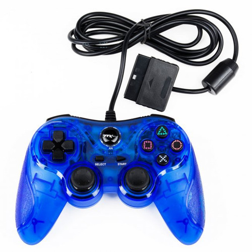 Playstation 2 PS2 Wired Controller [Clear Blue]