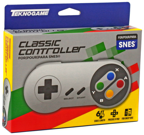 Super Nintendo SNES Wired Controller [Multi-Color Buttons]