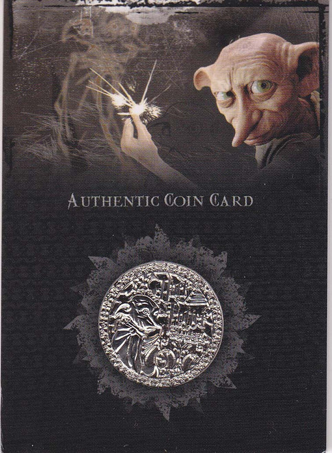Harry Potter and the Chamber of Secrets Dobby Authentic Coin Card CC1