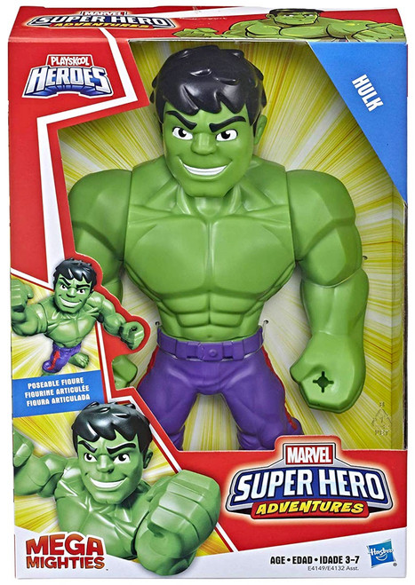 Marvel Playskool Heroes Super Hero Adventures Mega Mighties Hulk Action Figure