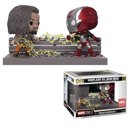 Funko Marvel Studios: The First Ten Years POP! Marvel Whiplash vs. Iron Man Exclusive Vinyl Bobble Head [Movie Moments, Marvel Studios 10 Box]