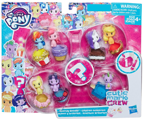 My Little Pony Cutie Mark Crew Series 1 Sparkly Sweets Exclusive Mini Figure 8-Pack