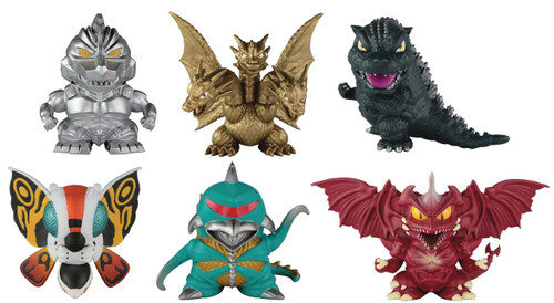Godzilla Chibi Mini Figure 6-Pack Diorama
