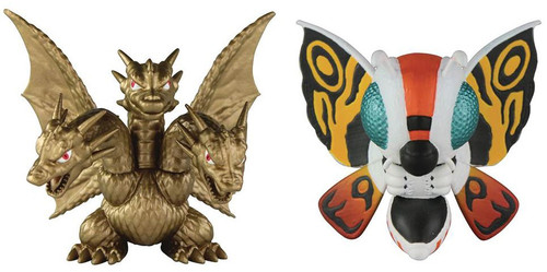 Godzilla Chibi King Ghidorah & Mothra Mini Figure 2-Pack