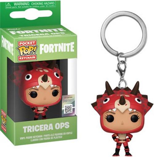 Funko Fortnite Series 2 Pocket POP! Games Tricera Ops Keychain