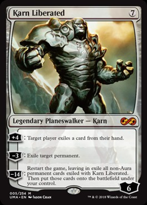 MtG Ultimate Masters Mythic Rare Karn Liberated #5