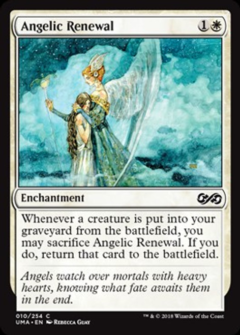 MtG Ultimate Masters Common Foil Angelic Renewal #10