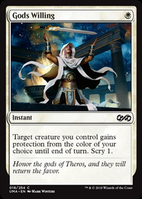 MtG Ultimate Masters Common Foil Gods Willing #18