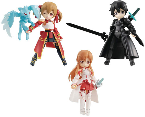 Sword Art Online Desktop Army Kirito, Asuna & Silica Mini Action Figure