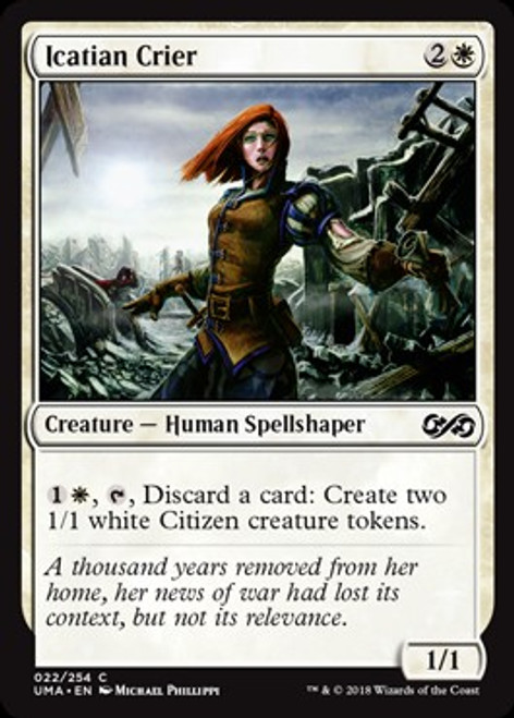 MtG Ultimate Masters Common Icatian Crier #22