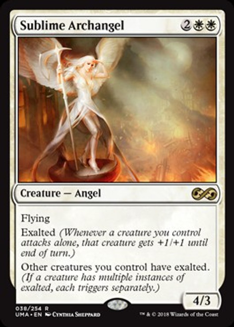 MtG Ultimate Masters Rare Foil Sublime Archangel #38