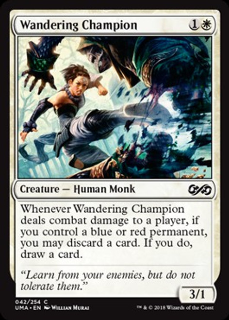 MtG Ultimate Masters Common Foil Wandering Champion #42
