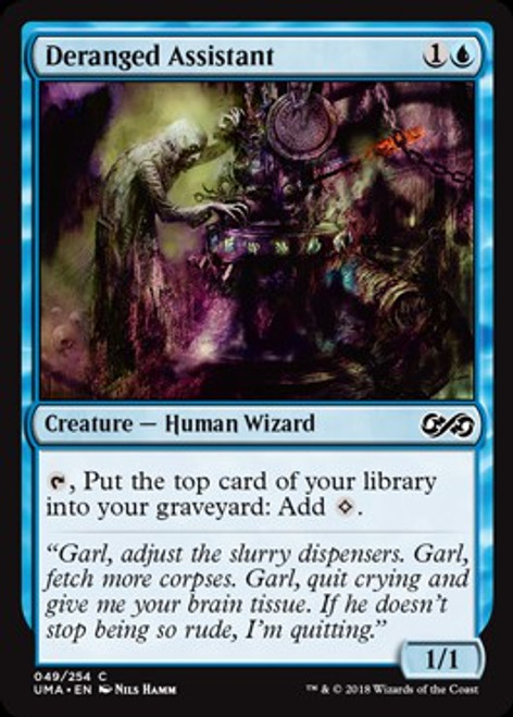 MtG Ultimate Masters Common Foil Deranged Assistant #49
