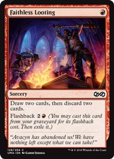 MtG Ultimate Masters Common Faithless Looting #128
