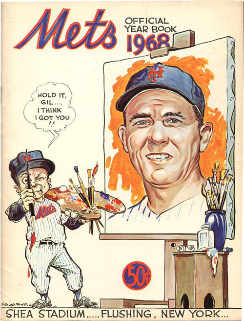 New York Mets 1968 Offical Year Book Offical Year Book [Gil Hodges Cover] [Good / Fair]