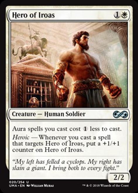 MtG Ultimate Masters Uncommon Foil Hero of Iroas #20