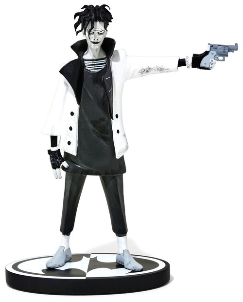 Batman Black & White The Joker Exclusive 7-Inch Statue [Gerard Way, White Jacket]