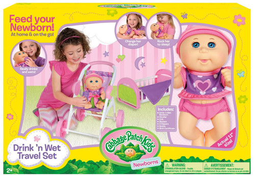 Cabbage Patch Kids Drink 'n Wet Travel Set Exclusive
