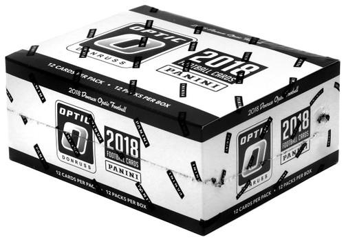 NFL Panini 2018 Donruss Optic Football Trading Card Fat Pack Box [12 Packs]